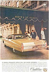 Cadillac At The St. Regis Hotel Ad
