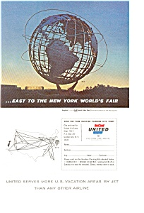 United Airlines New York World S Fair Ad Jan0896