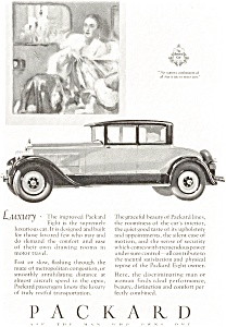1927 Packard Eight Coupe Automobile Ad