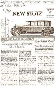 1926 Stutz Automobile Ad