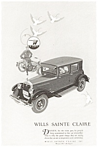 1926 Wills Sainte Claire Automobile Ad