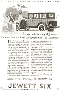 1924 Jewett Six Automobile Full Line Ad