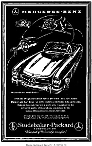 1958 Mercedes 300 Sl Roadster Ad