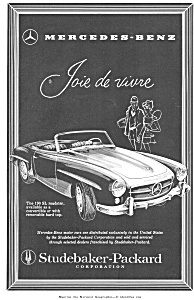 1958 Mercedes 190 Sl Roadster Ad