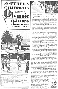 Olympics Southern California 1932 Ad (Image1)