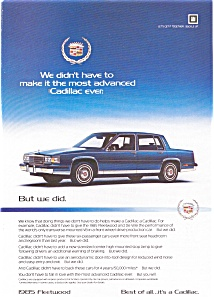1985 Cadillac Advertisement Color