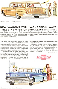 1958 Chevrolet Wagons Ad (Image1)