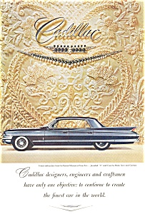 1961 Cadillac Hardtop Ad With Jewels (Image1)