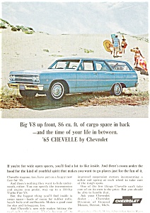 1965 Chevrolet  Chevelle Wagons Ad (Image1)