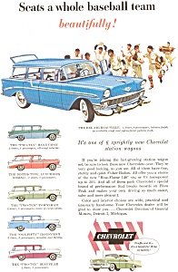 1956 Chevrolet  Wagon Line Ad (Image1)