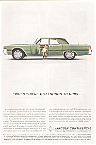 1962 Lincoln Continental 4-Door  Ad (Image1)
