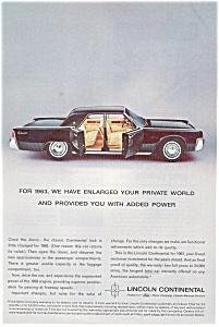 1963 Lincoln Continental  Private World Ad jan1898 (Image1)
