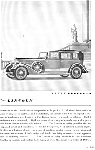 1934 Lincoln Brunn Brougham Ad jan1996 (Image1)