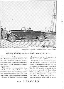 1932 Lincoln V-8 Phaeton Ad jan1998 (Image1)