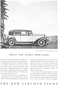1932 Lincoln Town Sedan Ad  jan1999 (Image1)