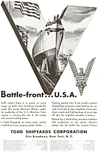 Todd Shipyards WWII  Ships for Victory Ad jan2088 (Image1)