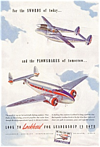 Lockheed  WWII Aircraft Ad (Image1)