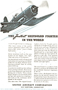 United Aircraft Corsair  WWII  Fighter Ad jan2093 (Image1)