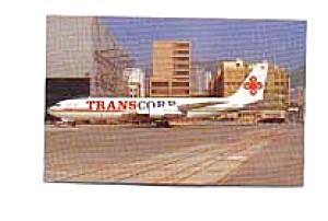 Transcorp B-707-320C Postcard jan2360 (Image1)