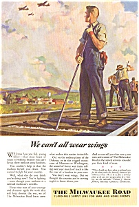 Milwaukee Road WWII  Trackman Ad (Image1)