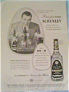 Schenley Whiskey Ad Jan249 With Ed Sullivan