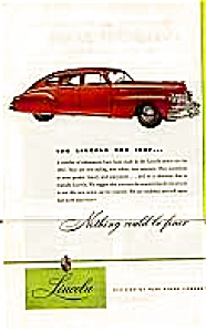 1947 Lincoln Motor Car, Ad. (Image1)
