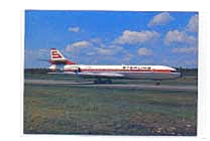 Sterling Airways Caravelle SE-210 Postcard jan2551a (Image1)