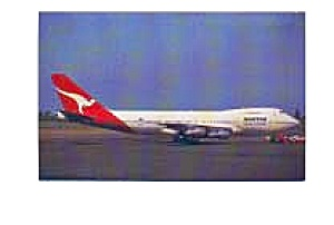 Qantas 747-238B Airline Postcard jan2654 (Image1)