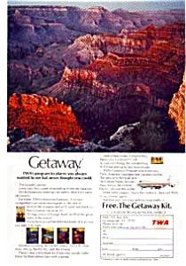 Twa Getaway Grand Canyon Ad Jan2752 1970s.