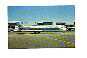 North Central Airlines Dc-9 Postcard Jan3151