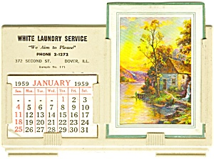 White Laundry Service Calender (Image1)