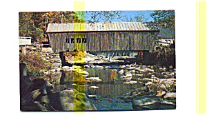 Mill Bridge VT Covered Bridge Postcard (Image1)