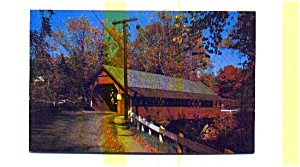 Creamery Covered Bridge VT Postcard (Image1)