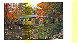 Chedder  Covered Bridge VT Postcard (Image1)