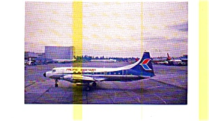 Pacific Western CV-640 Airline Postcard (Image1)