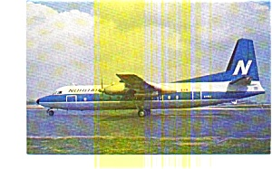 Nordair Fh-227e Airline Postcard Jun3251a
