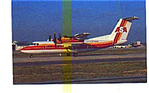 Asa Dash 7-102 Airline Postcard
