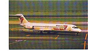 Midway Metrolink DC-9 Airline Postcard jun3277 (Image1)