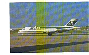 Ozark Airlines DC-9 Airline Postcard jun3278 (Image1)