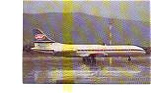 JAT Caravelle 6N Airline Postcard jun3287 (Image1)