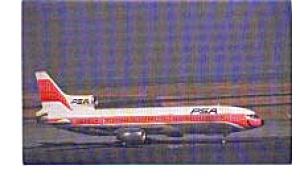 PSA L-1011 Airline Postcard jun3313 (Image1)