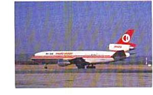 Malaysian DC-10-30 Airline Postcard jun3318 (Image1)