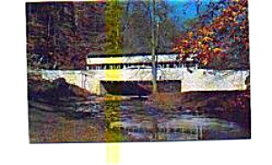Covered Bridge Valley Forge PA Postcard (Image1)