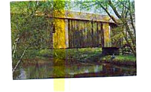 Covered Bridge Swanzey NH Postcard (Image1)