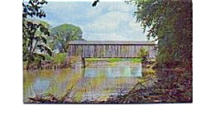 Covered Bridge  Barrington MA Postcard jun3337x (Image1)