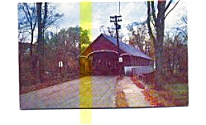 Covered Bridge  Lyndon VT Postcard (Image1)