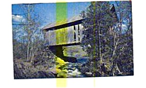 Covered Bridge  Stowe VT Postcard (Image1)