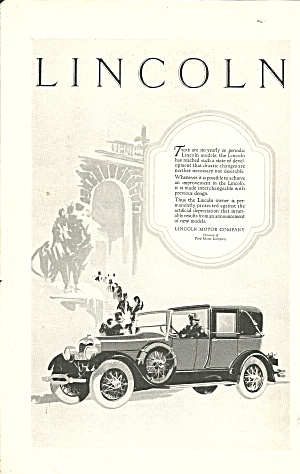 Lincoln Vintage Motor Car Ad Linc004