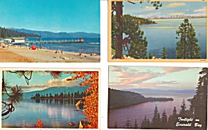 Lake Tahoe CA Postcard Lot of 4  Lot0023 (Image1)