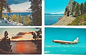Lake Tahoe CA Postcard Lot of 4  Lot0024 (Image1)